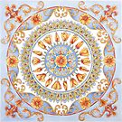 Poppy Mandala by Julie Ann Accornero
