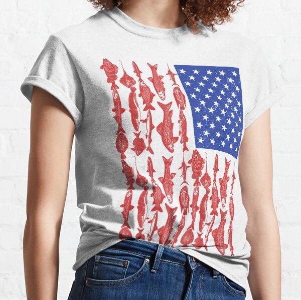 American Flag Fishing Design Classic T-Shirt