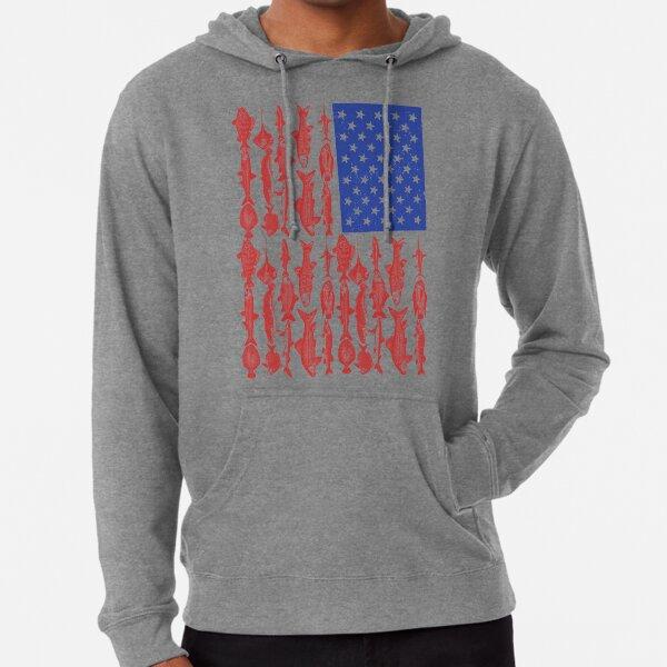Conception de pêche de drapeau américain Sweat à capuche léger