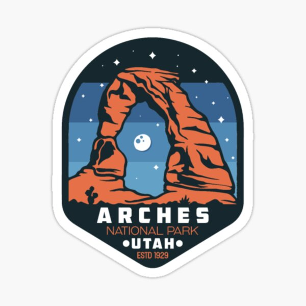 Vintage Arches National Park Utah Delicate Arch Gi Sticker