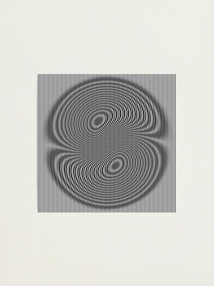 Alternate view of #Design, #abstract, #pattern, #illustration, psychedelic, vortex, modern, art, decoration Photographic Print