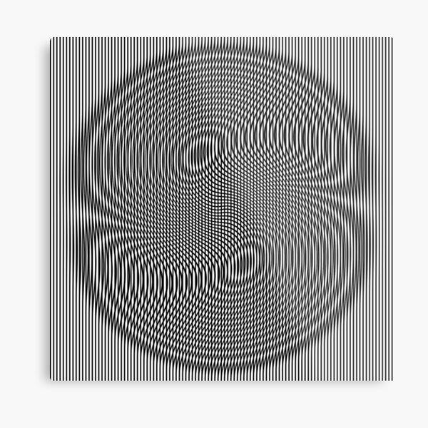 #Design, #abstract, #pattern, #illustration, psychedelic, vortex, modern, art, decoration Metal Print