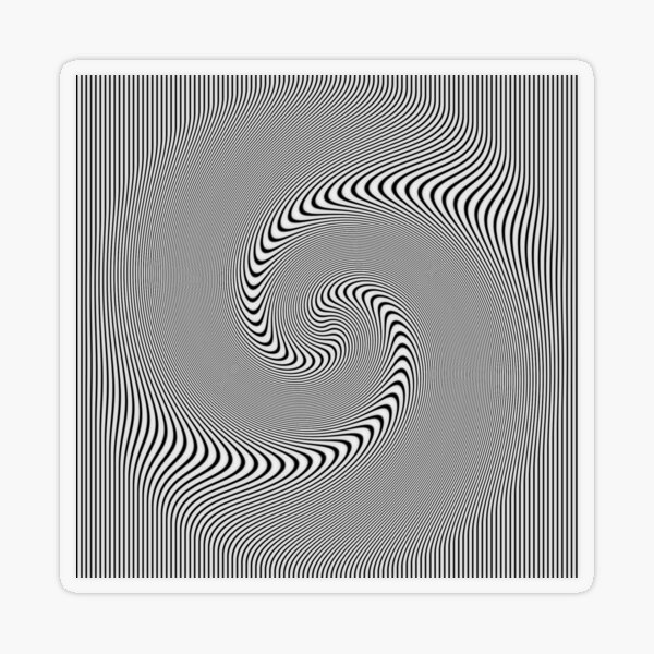 3d #Abstract Drawing #Spiral, #Helix, Scroll, Loop, Volute, Spire, #Hypnotic, Mesmeric, Psychedelic, Mind-Blowing Transparent Sticker
