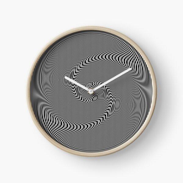 #Design, #abstract, #pattern, #illustration, psychedelic, vortex, modern, art, decoration Clock
