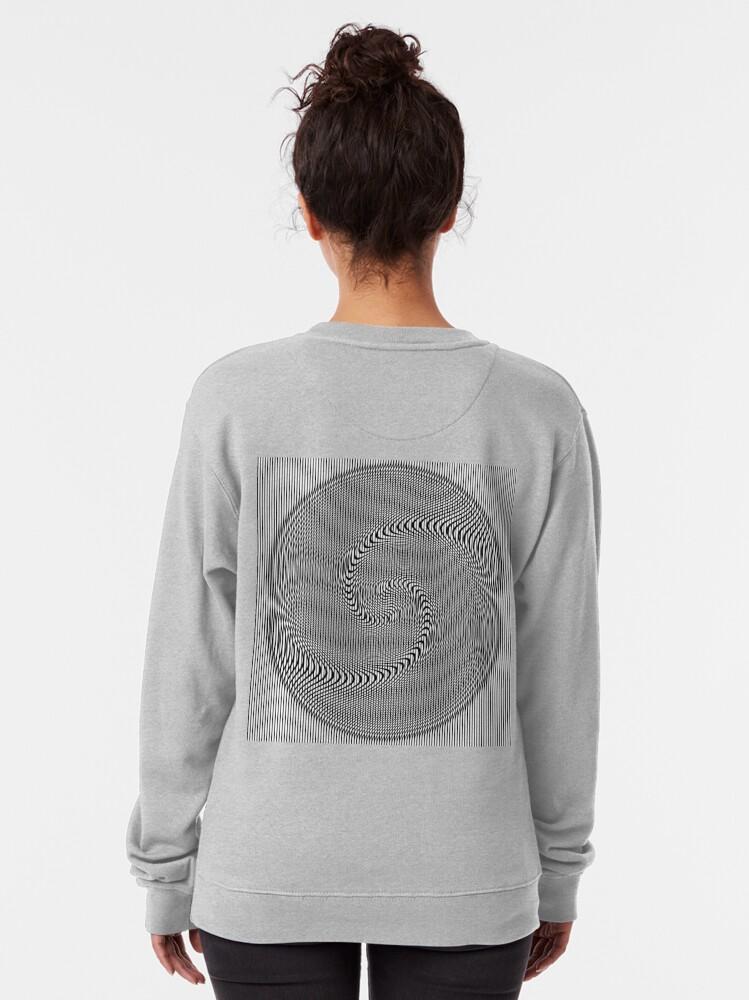Alternate view of #Design, #abstract, #pattern, #illustration, psychedelic, vortex, modern, art, decoration Pullover Sweatshirt