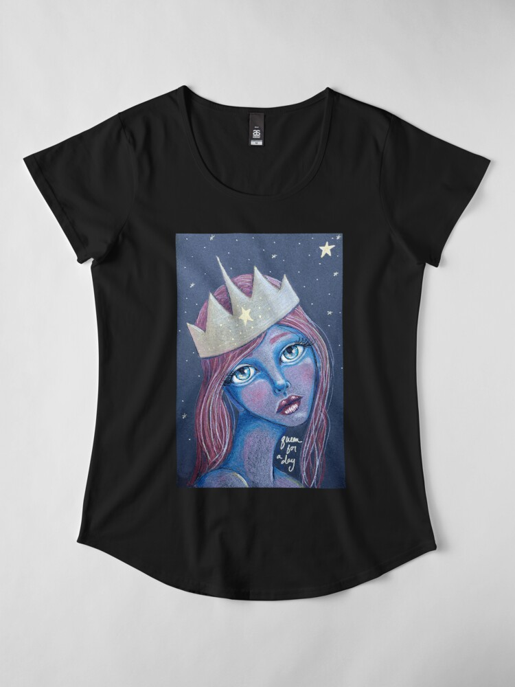 Alternate view of Queen For A Day Premium Scoop T-Shirt