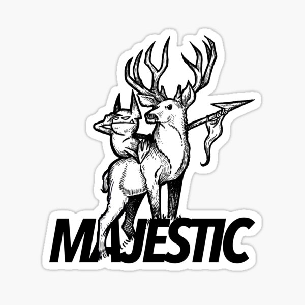 Majestic as All Forest Fauna Sticker