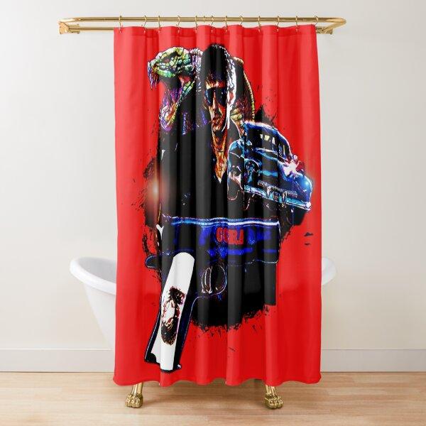 Creepy Stalker Psycho Shower Curtain Halloween Party Decoration