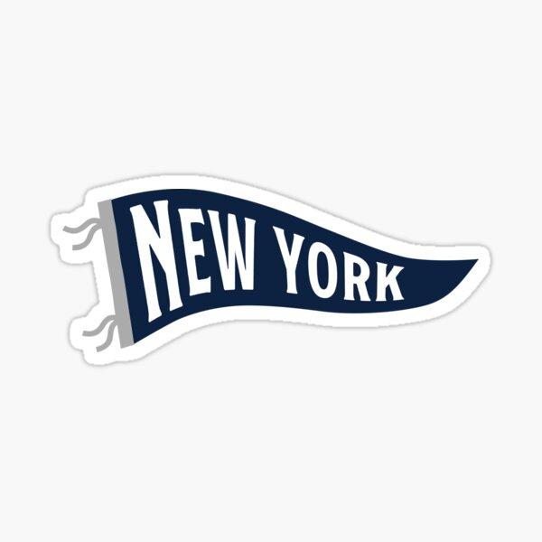 New York Pennant - White Sticker