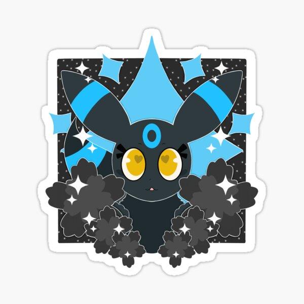 Shiny Dark Type with Flowers Sticker