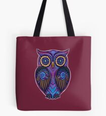 Ornate Owl 9 Tote Bag
