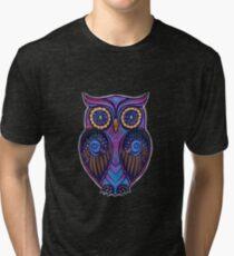 Ornate Owl 9 Tri-blend T-Shirt