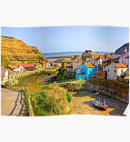 Staithes Harbour Poster