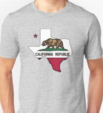 Texas outline California flag Unisex T-Shirt