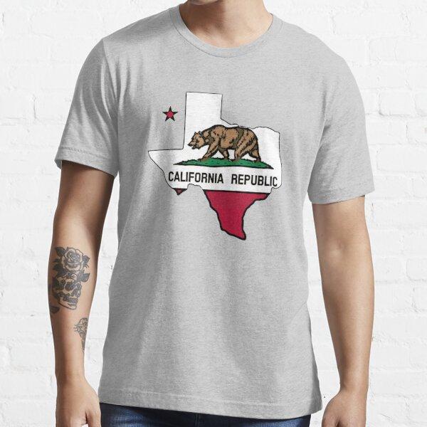 Drapeau du Texas Drapeau de la Californie T-shirt essentiel