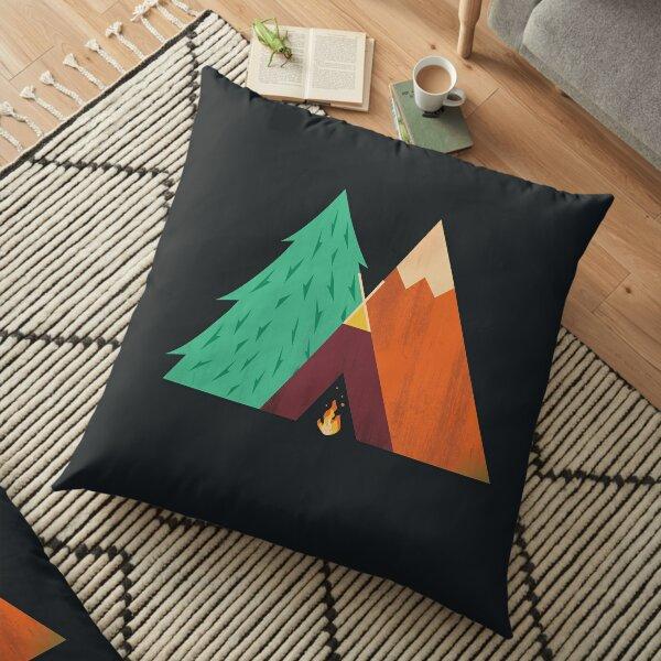 Camping Adventure Floor Pillow
