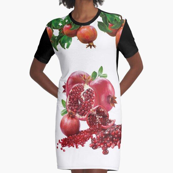 Pomegranates Graphic T-Shirt Dress
