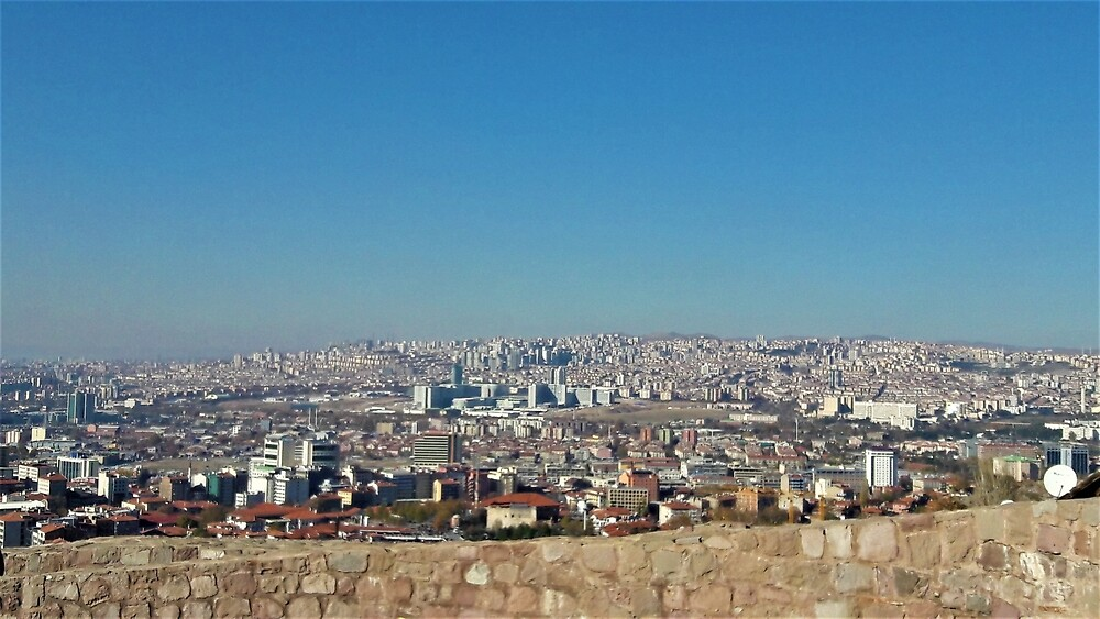 Ankara from Castle Walls by tomeoftrovius