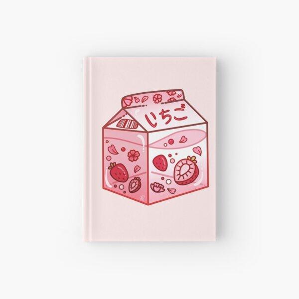 Strawberry Milk Carton Hardcover Journal