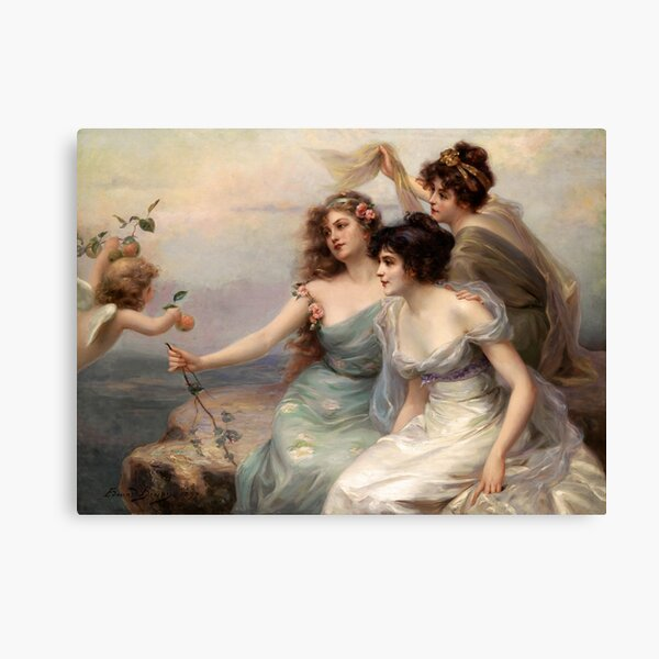 The Three Graces by Edouard Bisson Canvas Print