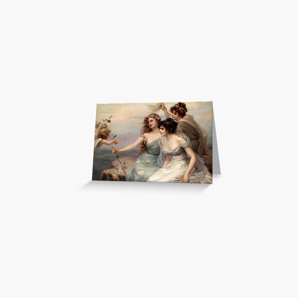 The Three Graces by Edouard Bisson Greeting Card