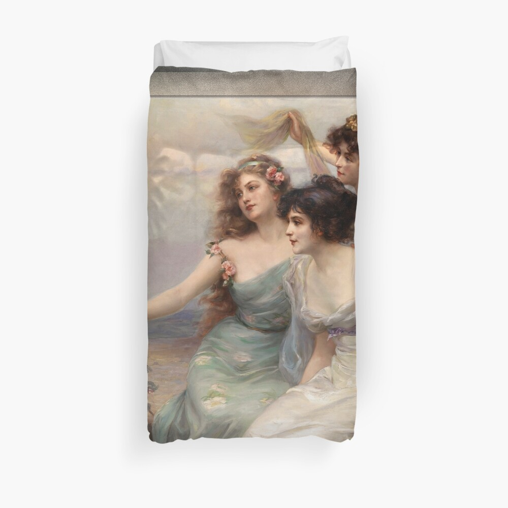 The Three Graces by Edouard Bisson Duvet Cover