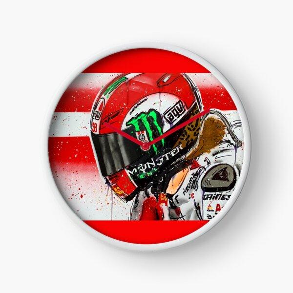 Marco Simoncelli MotoGP graffiti painting by DRAutoArt Clock