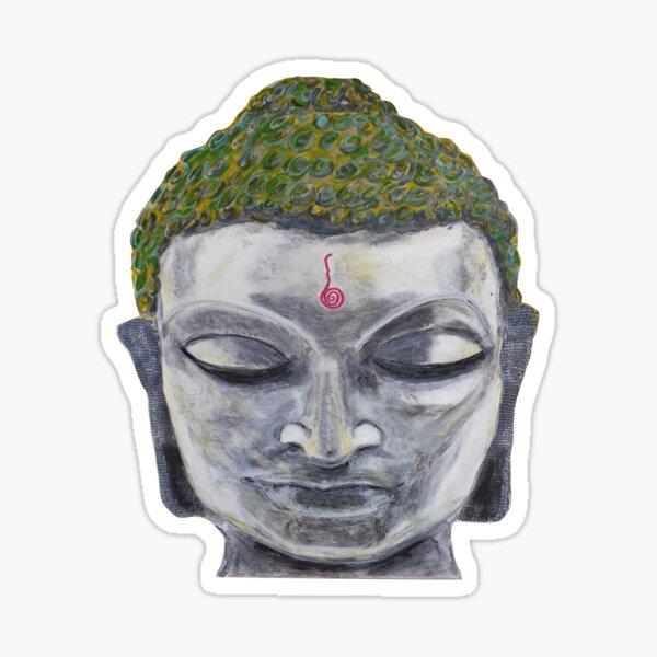 Spiritual Buddha Head (metal effect) Sticker