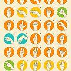 AMERICAN SIGN LANGUAGE HAND ALPHABET by JazzberryBlue