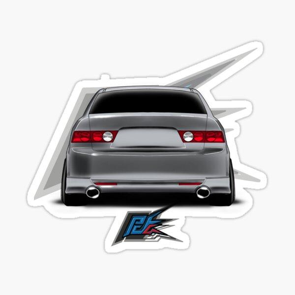 tsx cl9 rear silver  Sticker