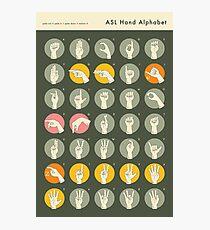 ASL HAND ALPHABET Photographic Print