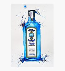 Bombay Sapphire Gin Bottle Photographic Print