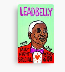 Leadbelly Blues Folk Art Canvas Print