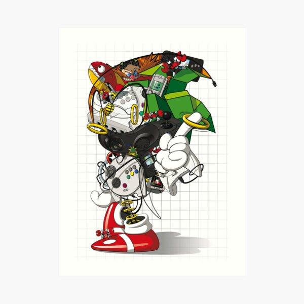 Sonic The Mess-gehog Art Print