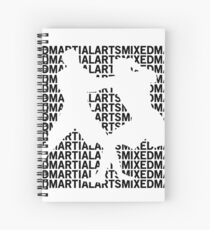 Mixed Martial Arts Cage Fighting Spiral Notebook