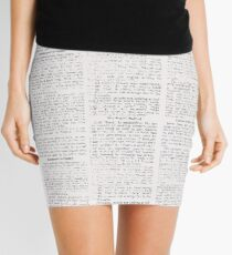 Newspaper Mini Skirt