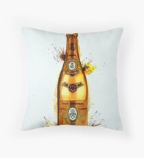 Cristal Champagne Bottle Throw Pillow