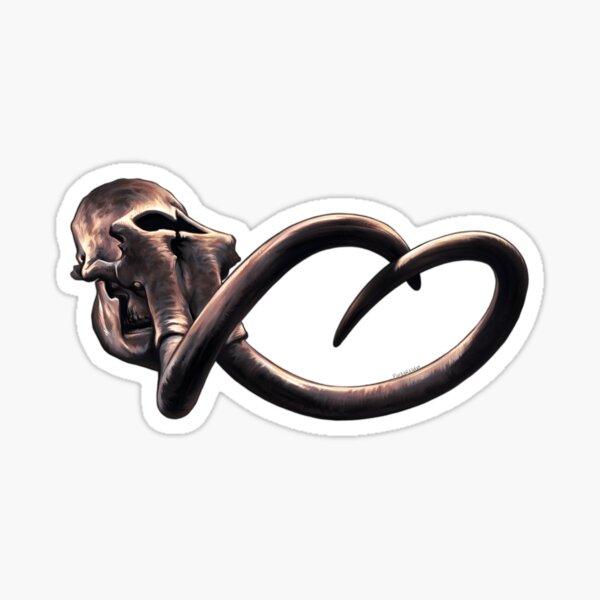 Columbian Mammoth Skull Sticker