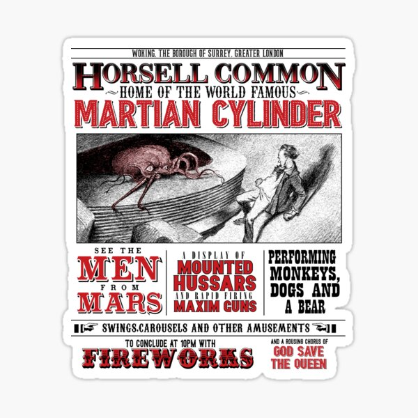 Horsell Common - Inspired by War of the Worlds Sticker