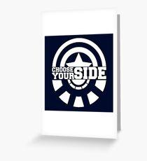 Civil War - Choose Your Side Greeting Card