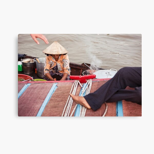 Floating Market on Mekong River | Colour Travel Photography Canvas Print