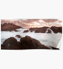 Sunset at Canal Rocks Poster