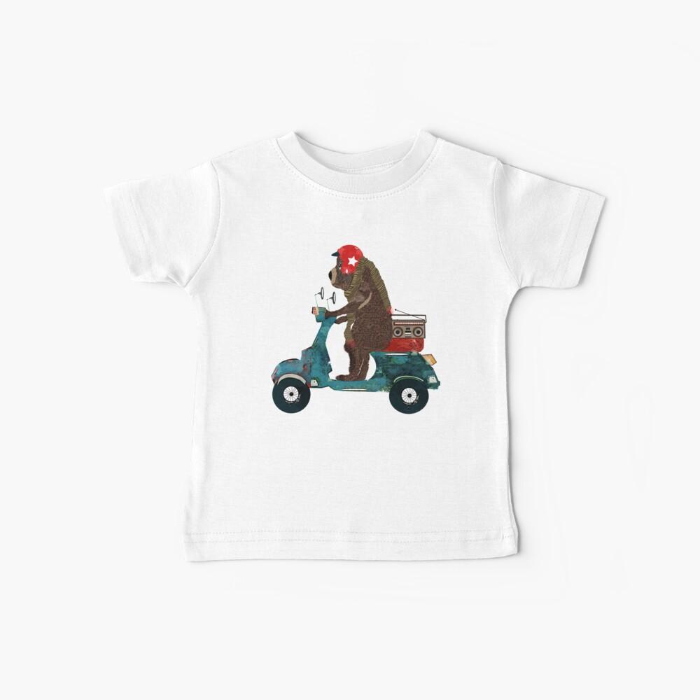 scooter bear Baby T-Shirt