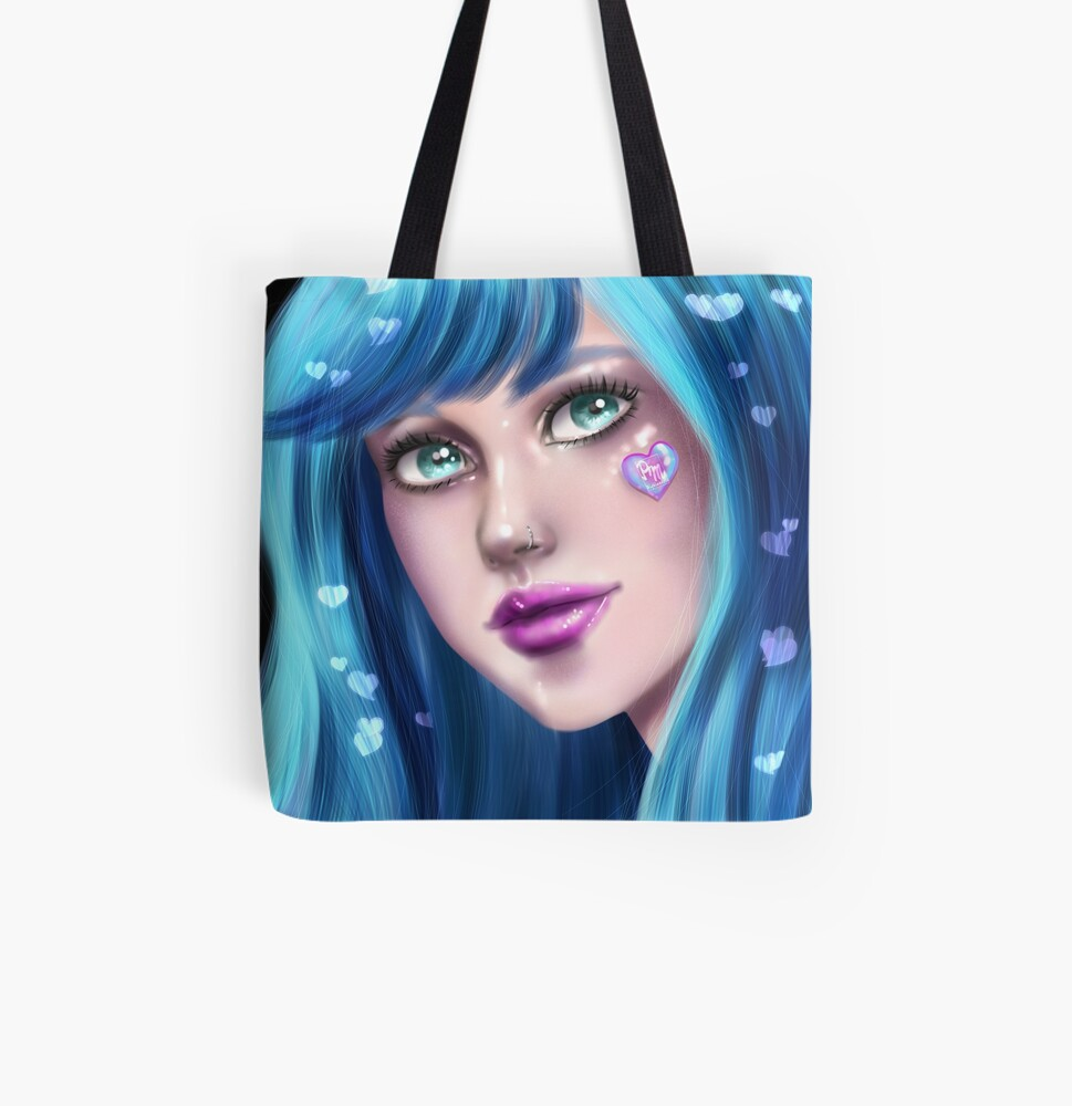 Queen of Hearts All Over Print Tote Bag