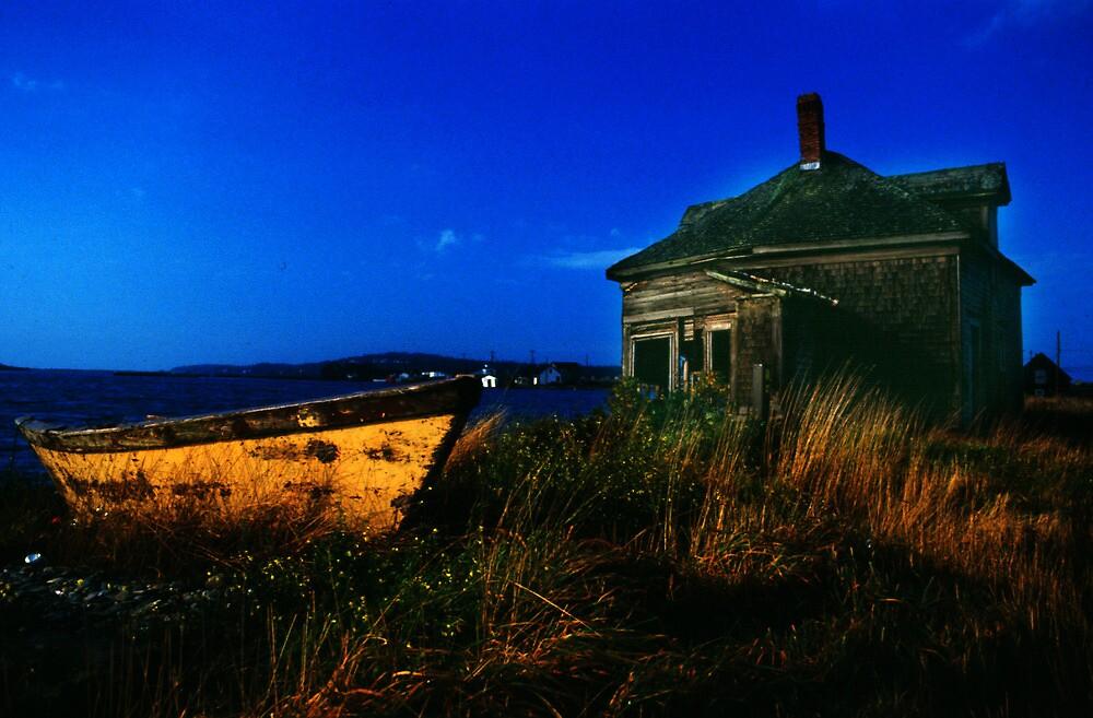 The breakwater - Yarmouth, NS by Harv Churchill
