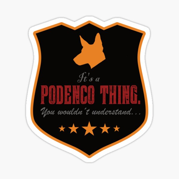 PODENCO THING by die|site Sticker