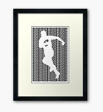 Rugby Player with Ball Framed Print