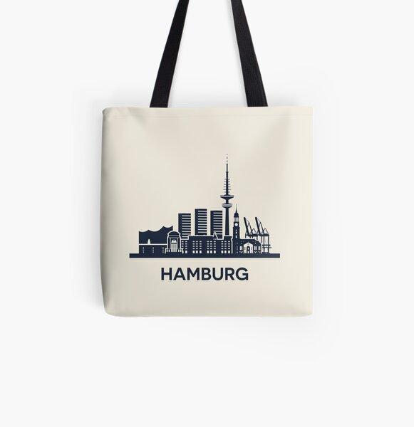 Hamburgo Bolsa estampada de tela