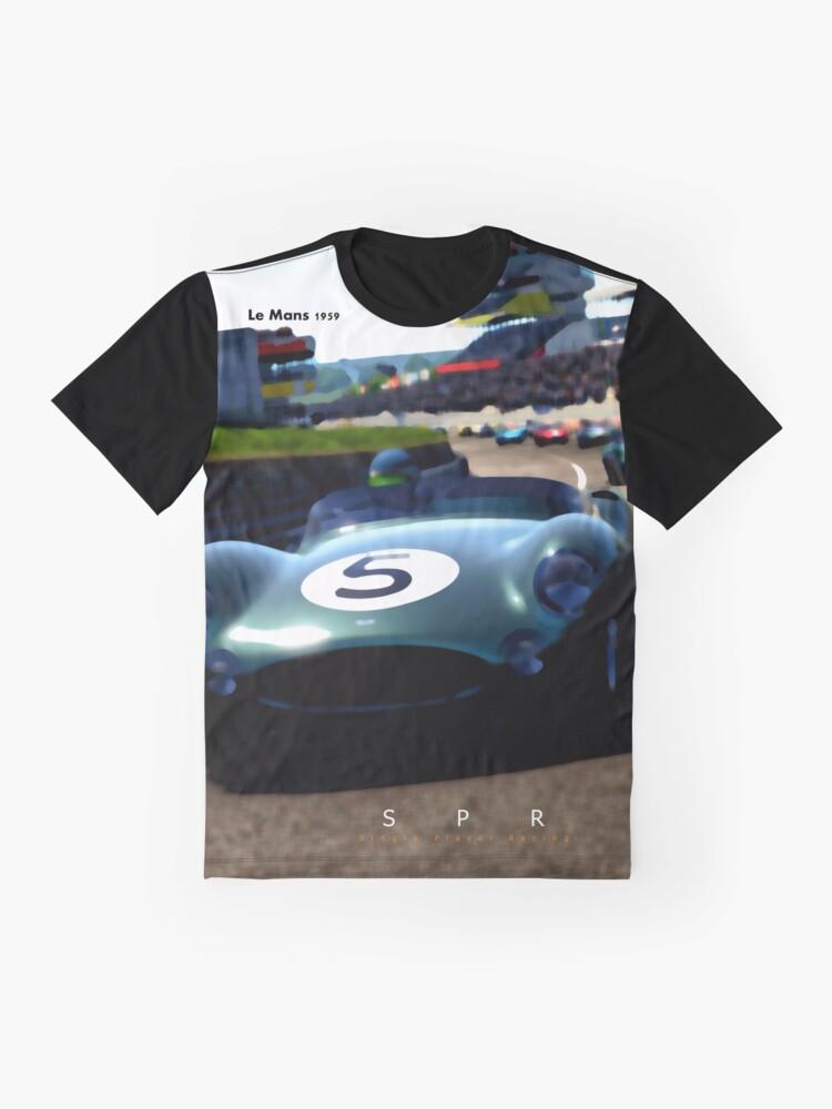 Alternate view of Aston Martin DBR1 Anniversary Tribute Design Graphic T-Shirt
