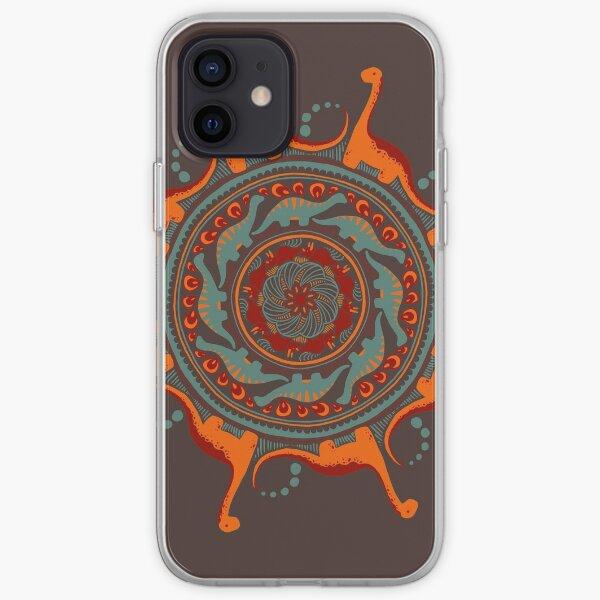 Dino-mandala 4 Coque souple iPhone